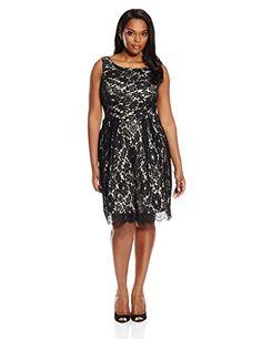 Single Dress Women's Plus-Size Sleeveless Lace Dress, Bla... http://www.amazon.com/dp/B01COQZ5BQ/ref=cm_sw_r_pi_dp_2gSkxb14J2TQA
