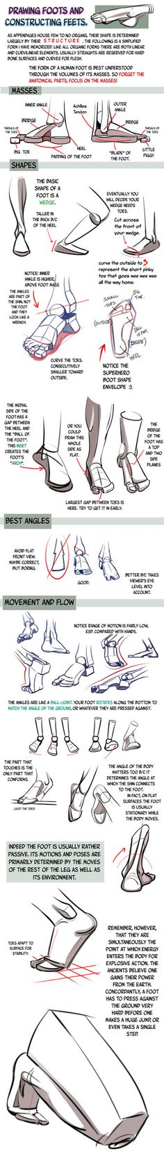 I know I did a foot tutorial before, but it was my first one so it was short and not so good. I think this one here is much better at explaining how to draw and understand feet. As always, ke...