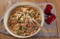Vlašský šalát Thing 1, Pasta Salad, Ethnic Recipes, Food, Meal, Essen, Cold Noodle Salads, Hoods, Noodle Salads