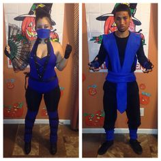 Kitana sub zero couple costume Halloween 2013 mortal kombat dyi