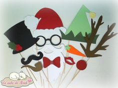♥ Complementos de photocall para Navidad. http://lanubedenoah.blogspot.com.es/2015/12/complementos-de-photocall-para-navidad.html