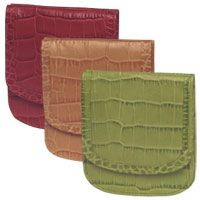 Croco Print Collection Taxi Wallet. In bright, jewel-toned hand-dyed Italian leather.