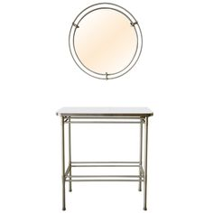 Rare Warren McArthur Console and Mirror, circa 1938 | From a unique collection of antique and modern pier mirrors and console mirrors at http://www.1stdibs.com/furniture/mirrors/pier-mirrors-console-mirrors/
