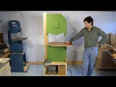 Home made bandsaw (version 1) - YouTube