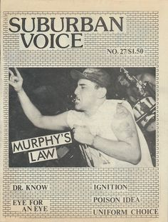 Here is Suburban Voice No. 27, 1989. Published by Al Quint, Lynn, MA. More cover scans from my collection of 'zines from the 1980s and 90s here.