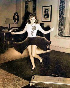 Judy Garland practicing