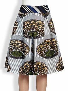 Stella Jean - Full Pleated Skirt - Saks.com