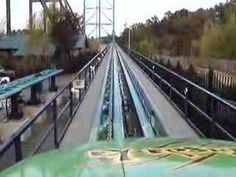 Six Flags NJ - Kingda Ka. watch the whole thing. 0 to 128mph in 3.5 sec! and yes i have been on this. P.S.there is a singh that says if you do not reach the top you will come back down and we will RELAUNCH you! crazy