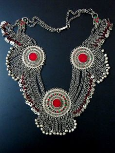 Old Tribal Jewelry Necklace from Afghanistan