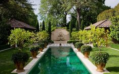 Beautiful pool, pots and all details awesome - Paul Bangay
