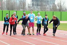 Los Duques de Cambridge y el príncipe Harry... ¡nada que envidiar a Usain Bolt!