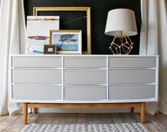 painted mid century modern dresser modern dresser vintage dresser by VintageFreshShop on Etsy https://www.etsy.com/listing/241810337/painted-mid-century-modern-dresser