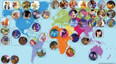 Map of the world according to Disney!