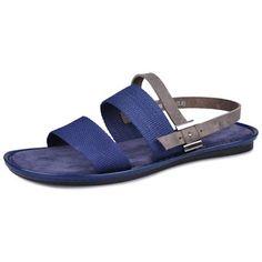 Men Blue Fashion Dress Sandals SKU-1100196