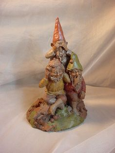Vtg Tom Clark Gnome Figurine The No Evels 42 1984 9 inch Hear See Speak no Evil Seller florasgarden on ebay