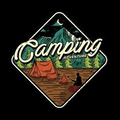 Bike Illustration, Nature Illustration, Graphic Design Illustration, Badge Design, Logo Design, Mountain Designs, Wallpaper Iphone Disney, Geometric Art, Camping