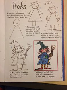 Heks tekenen Basic Drawing, Drawing For Kids, Painting For Kids, Theme Halloween, Halloween Images, Halloween Craft Activities, Halloween Crafts, Fall Drawings, Circus Crafts