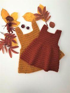 Crochet Baby Dress Free Pattern, Newborn Crochet Patterns, Baby Girl Crochet, Crochet Baby Clothes, Baby Patterns, Crochet Baby Stuff, Crochet Fall, Crochet For Kids, Baby Girl Frocks