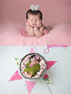 This adorable little #newborn girl looks so perfect in her #crown !  #QuadCities #photographer    |   JenniferJayne.com