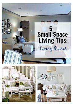 5 useful small space living tips for your living room, including a few awesome organization tips. www.chatfieldcourt.com