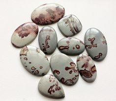 WHOLESALE 10 Pcs Huge Jasper Cabochons Mix Shape by gemsforjewels
