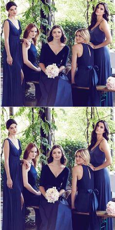 A-line V-neck Blue Chiffon Bridesmaid Dresses,Cheap Bridesmaid Dresses,WGY0365#bridesmaids #bridesmaiddress #bridesmaiddresses #dressesformaidofhonor #weddingparty #2020bridesmaiddresses Simple Bridesmaid Dresses, Gold Prom Dresses, Long Prom Gowns, Blue Bridesmaids, Bridesmaid Gowns, Bridesmaid Outfit, Popular Dresses, Maid Of Honor, Wedding Gowns