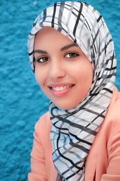 A beautiful smile of a muslim woman
