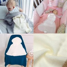 baby blankets Soft Woolen Rabbit Ears Baby Blanket for ages 0 to 3 Months