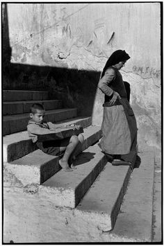 Attica, Piraeus, Greece, 1953 by Henri Cartier-Bresson Candid Photography, Documentary Photography, Vintage Photography, Street Photography, People Photography, Magnum Photos, Henri Cartier Bresson Photos, French Photographers, Photography Workshops