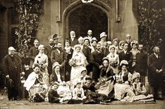 This picture from 1870 shows the wedding of Anne Austin and Reginald Porch. Wedding Fashions Through The Decades, at Strode Theatre in the village of Street, Somerset showcases a collection of pictures showing wedding groups