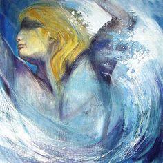 Poseidon, Element Wasser, Malerei von Hans-Jakob Bopp - Kreavitalis