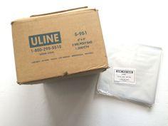 "6'' x 6"" 2 Mil Industrial Poly Bags S-951 1,000ct.-by U-Line #ULIne"