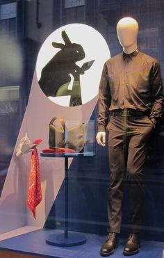 """HERMES, Milan, """" Hermès is playing with shadows..."""", pinned by Ton van der veer"""
