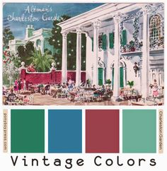 Ponyboy Press - zine maker, design lover, dedicated homebody: Search results for color palette Vintage Colour Palette, Fall Color Palette, Vintage Colors, Colour Palettes, Muted Colors, Unique Colors, House Of Tomorrow, Charleston Gardens, Vintage Owl