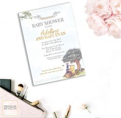 Baby Shower Invitation  Winnie The Pooh  Formal Invitation W