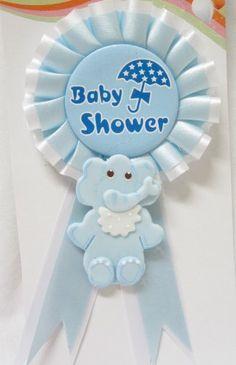 Baby Shower Baby Boy Elephant Badge Jungle Safari Theme Corsage Mom to Be Safari Theme, Jungle Safari, Elephant Theme, Blue Party, Corsage, Baby Boy Shower, Pink Blue, Joseph Murphy, Badge