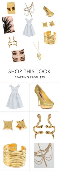 """""""Egyptian queen 4"""" by vyesica-yv on Polyvore featuring Chi Chi, French Connection, Elora, BaubleBar, Kenneth Jay Lane, ASOS and Jennifer Zeuner"""