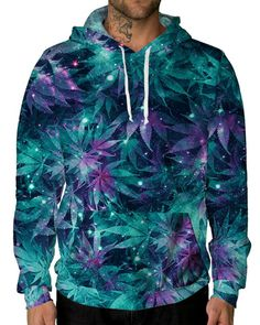 8823f171aa iHeartRaves Ganja Galaxy Unisex All Over Print Hoodie-male front Beloved  Shirts