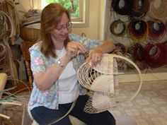 One of the best basketry teachers in the country, Anne Bowers  :-)  My favorite teacher