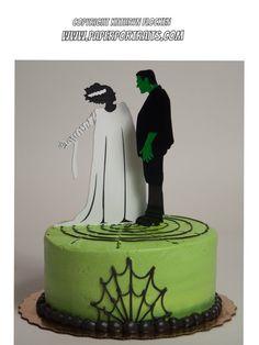 Frankenstein and Bride of Frankenstein Halloween by PaperPortraits