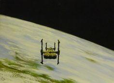 Ian S Bott - Artwork - Orbiting Ship