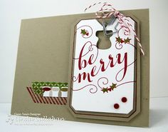 Stampin' Up 'Be Merry' single stamp Christmas card | Linda Callahan,  Stampin' Seasons