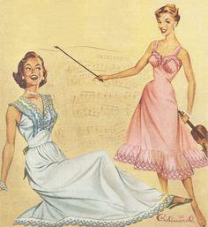1950s Balmoral lingerie advertisement.