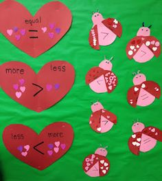 More than, less than, equal to LOVE BUGS...Craft and math!