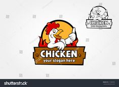 A happy funny Cartoon Rooster chicken giving a thumbs up, vector logo illustration