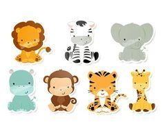 Floresta Jungle Party, Safari Party, Safari Theme, Jungle Theme, Baby Party, Jungle Animals, Animals For Kids, Baby Animals, Elephant Party