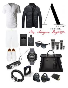 """""""A bright future"""" by morgan-defstyle on Polyvore featuring HUGO, LE3NO, Maison Margiela, Armani Exchange, John Hardy, Carrera, Oxford Ivy, Samsung, Gucci and Clinique"""