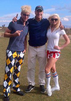 Murray SawChuck, Chloe Crawford, Joe Schillaci, Richard Burgi at NCMEC Celebrity Golf Tournament