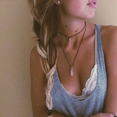 Let the bralette peek through a little. Perfect outfit idea