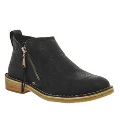 UGG Australia Clementine Ankle Boots Black Leather - Ankle Boots